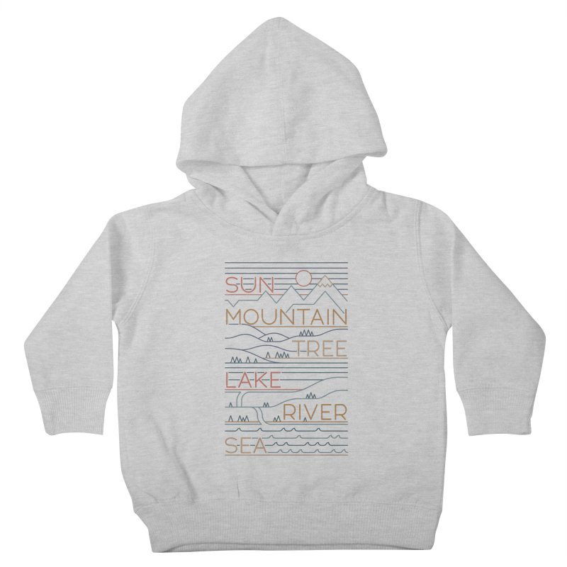 Sun, Mountain, Tree Kids Toddler Pullover Hoody by thepapercrane's shop