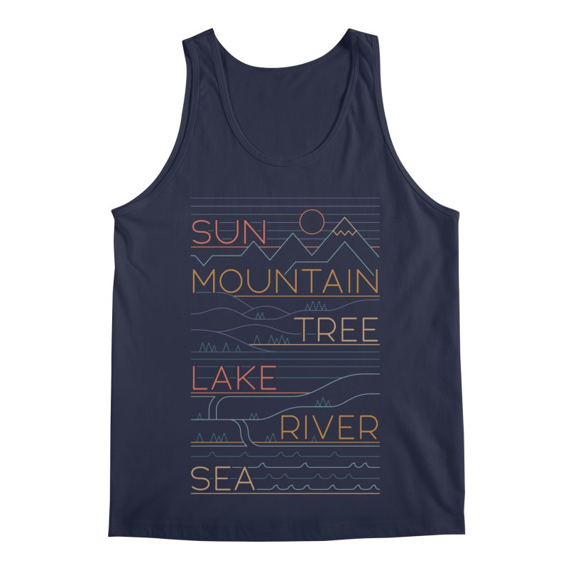 Sun, Mountain, Tree Men's Regular Tank by thepapercrane's shop