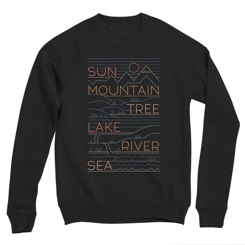 Sun, Mountain, Tree Men's Sweatshirt by thepapercrane's shop