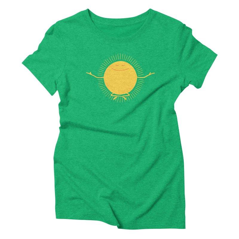 Sun Worshipper Women's Triblend T-shirt by thepapercrane's shop