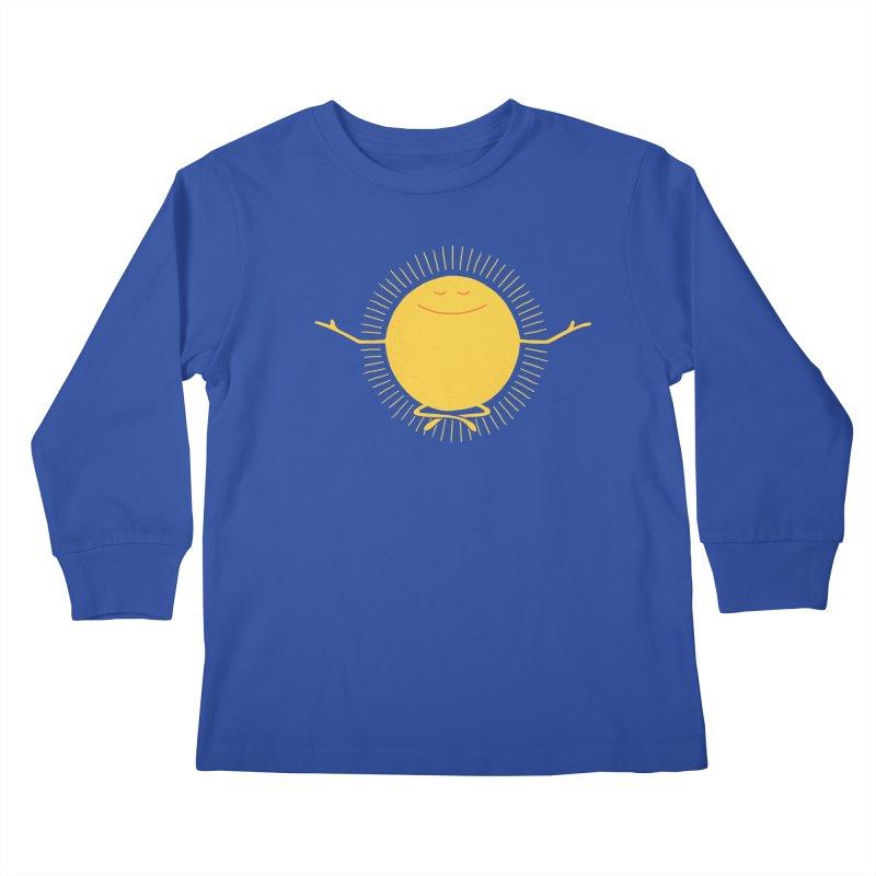 Sun Worshipper Kids Longsleeve T-Shirt by thepapercrane's shop