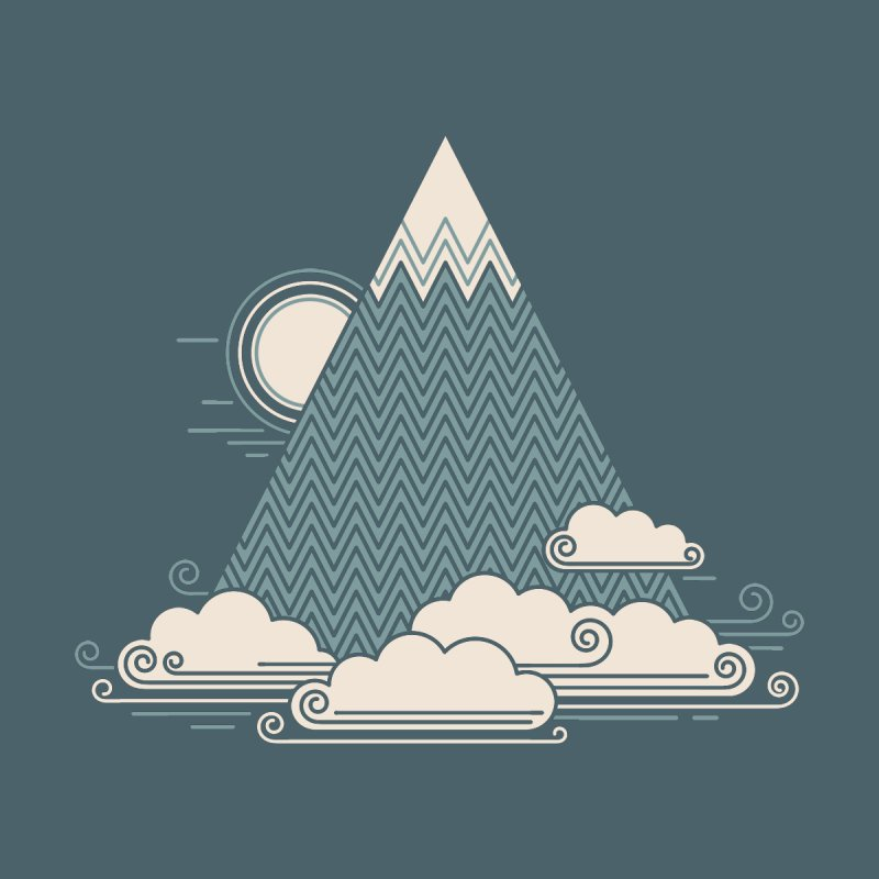 Cloud Mountain None  by thepapercrane's shop