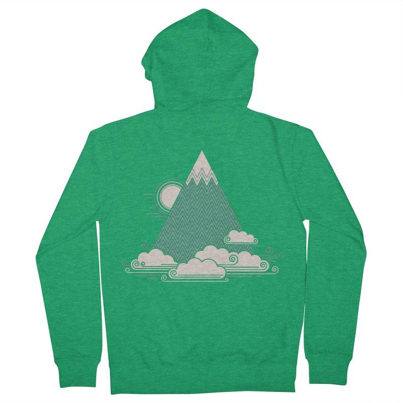 Cloud Mountain Men's Zip-Up Hoody by thepapercrane's shop