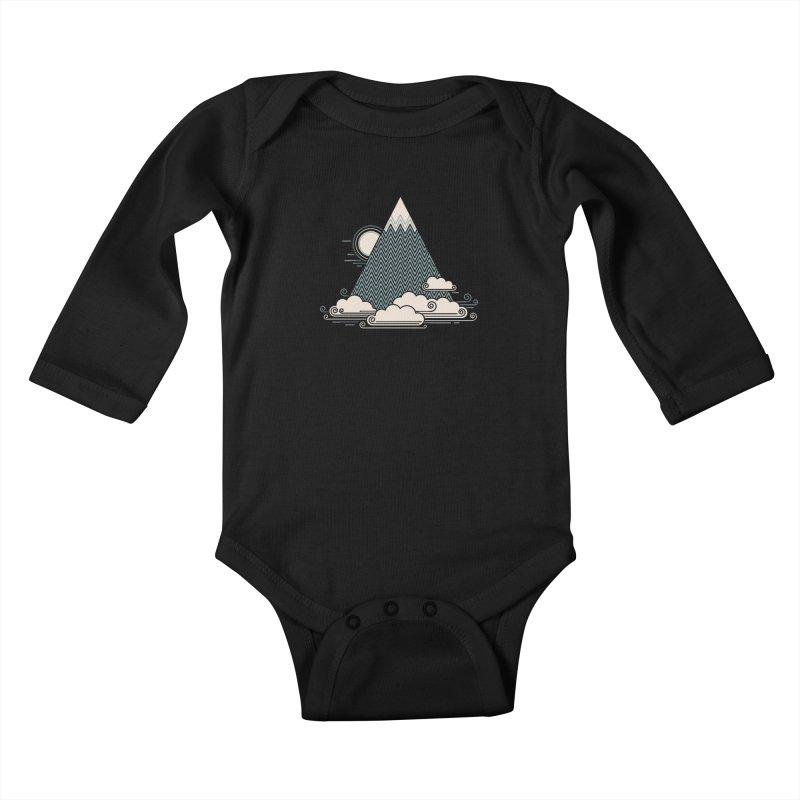 Cloud Mountain Kids Baby Longsleeve Bodysuit by thepapercrane's shop