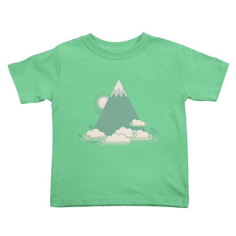 Cloud Mountain Kids Toddler T-Shirt by thepapercrane's shop