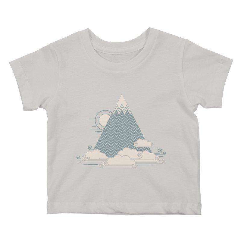 Cloud Mountain Kids Baby T-Shirt by thepapercrane's shop