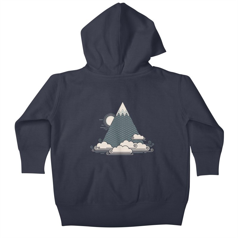 Cloud Mountain Kids Baby Zip-Up Hoody by thepapercrane's shop