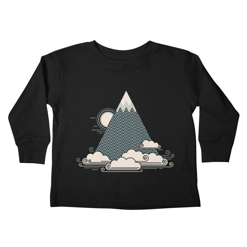 Cloud Mountain Kids Toddler Longsleeve T-Shirt by thepapercrane's shop
