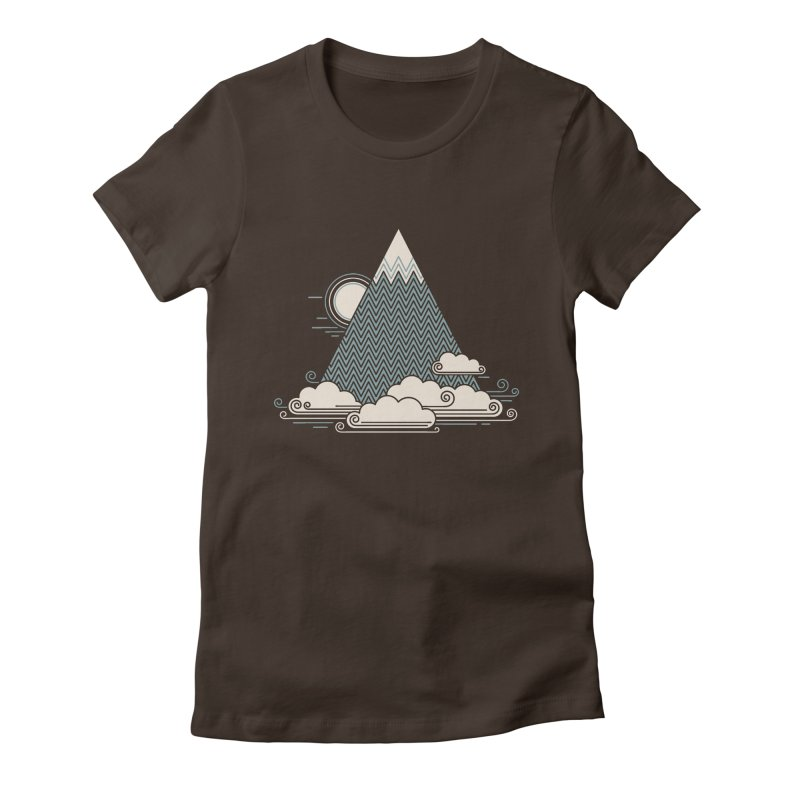 Cloud Mountain Women's Fitted T-Shirt by thepapercrane's shop