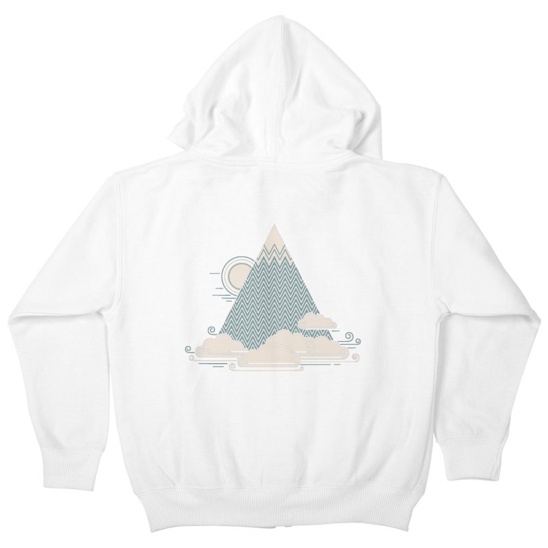 Cloud Mountain Kids Zip-Up Hoody by thepapercrane's shop
