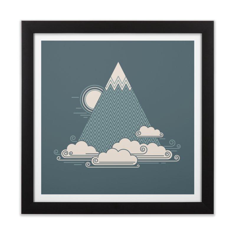 Cloud Mountain Home Framed Fine Art Print by thepapercrane's shop
