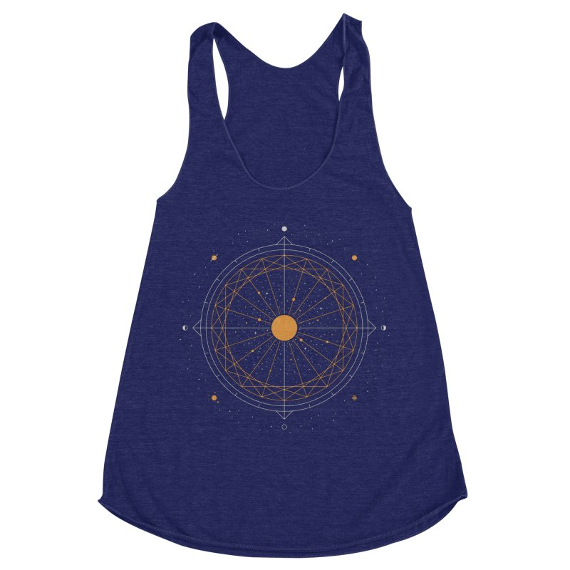 Order Out Of Chaos Women's Racerback Triblend Tank by thepapercrane's shop