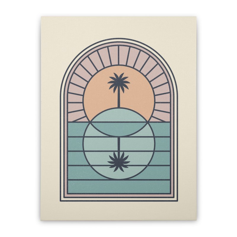 Venn Island Home Stretched Canvas by thepapercrane's shop