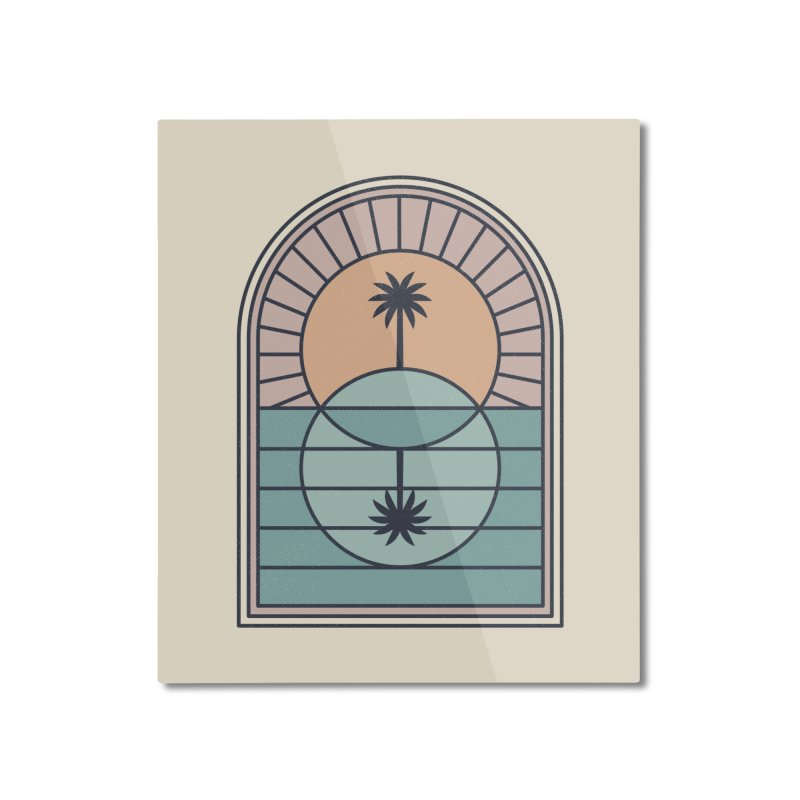 Venn Island Home Mounted Aluminum Print by thepapercrane's shop
