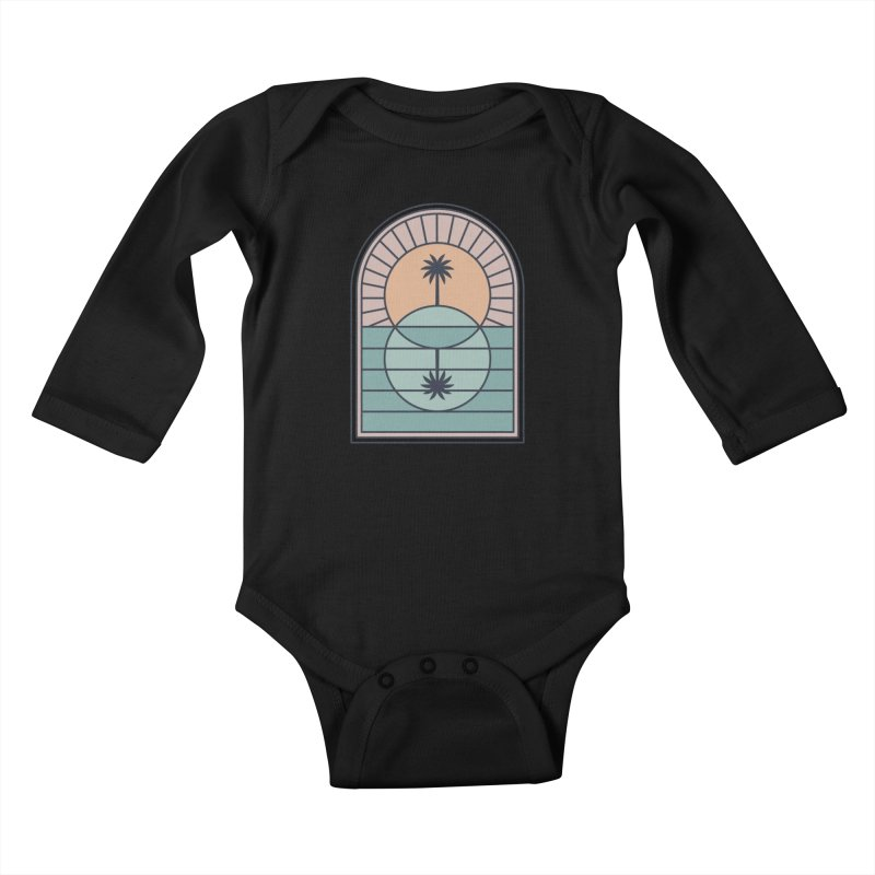 Venn Island Kids Baby Longsleeve Bodysuit by thepapercrane's shop