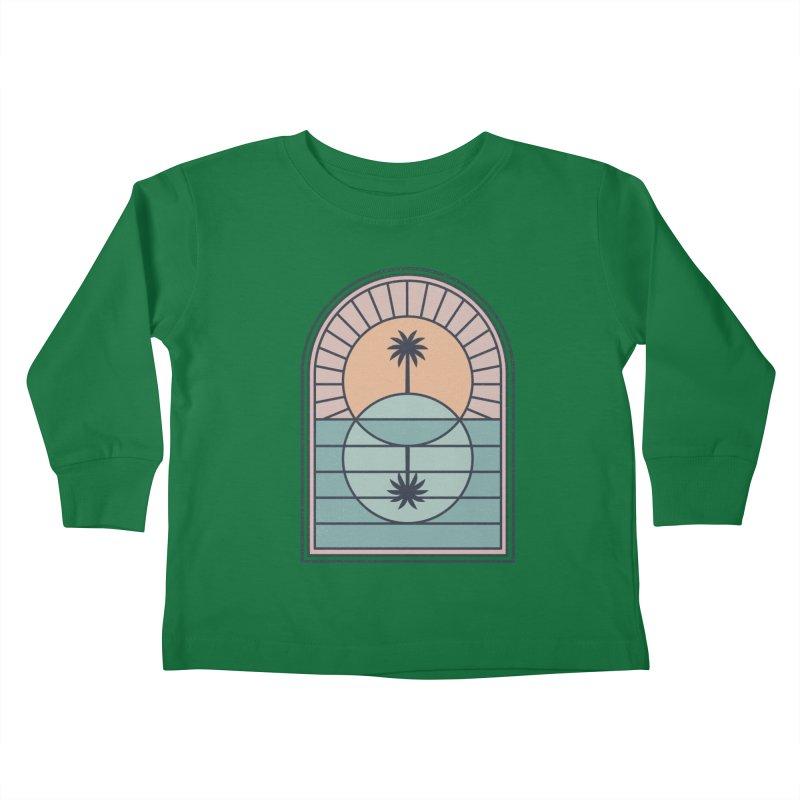 Venn Island Kids Toddler Longsleeve T-Shirt by thepapercrane's shop