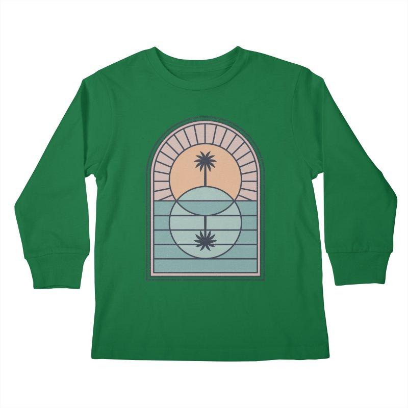Venn Island Kids Longsleeve T-Shirt by thepapercrane's shop
