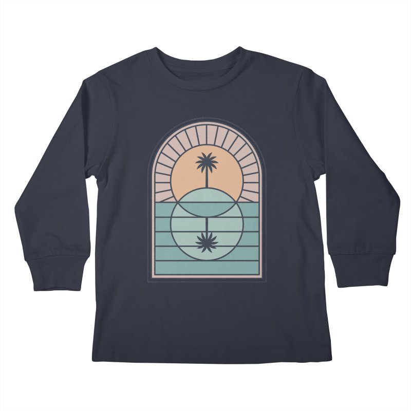 Venn Island Kids Longsleeve T-Shirt by thepapercrane's shop