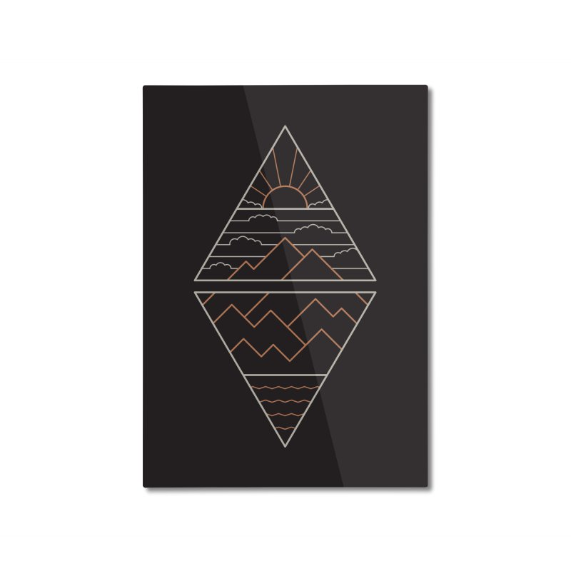 Earth, Air, Fire & Water Home Mounted Aluminum Print by thepapercrane's shop