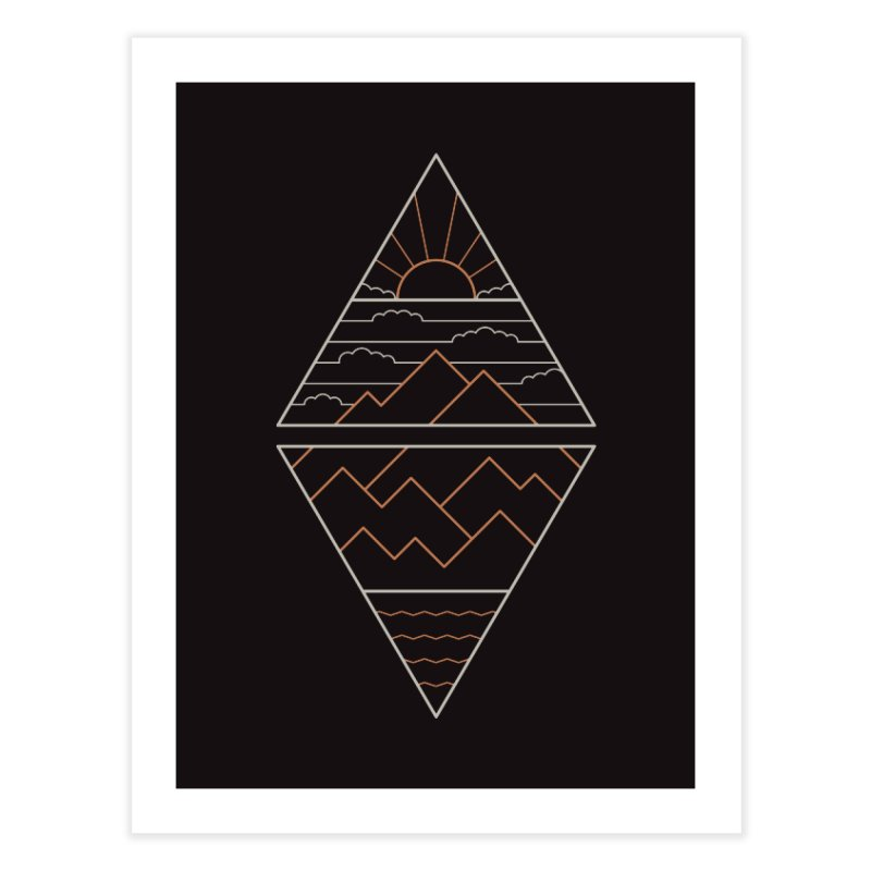 Earth, Air, Fire & Water Home Fine Art Print by thepapercrane's shop