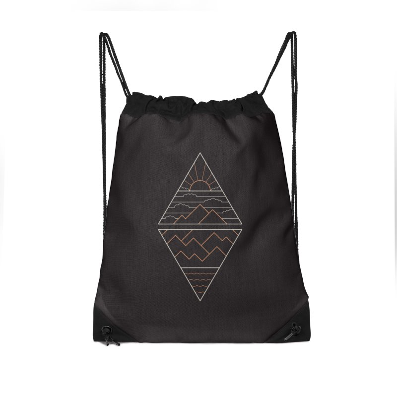 Earth, Air, Fire & Water Accessories Drawstring Bag Bag by thepapercrane's shop