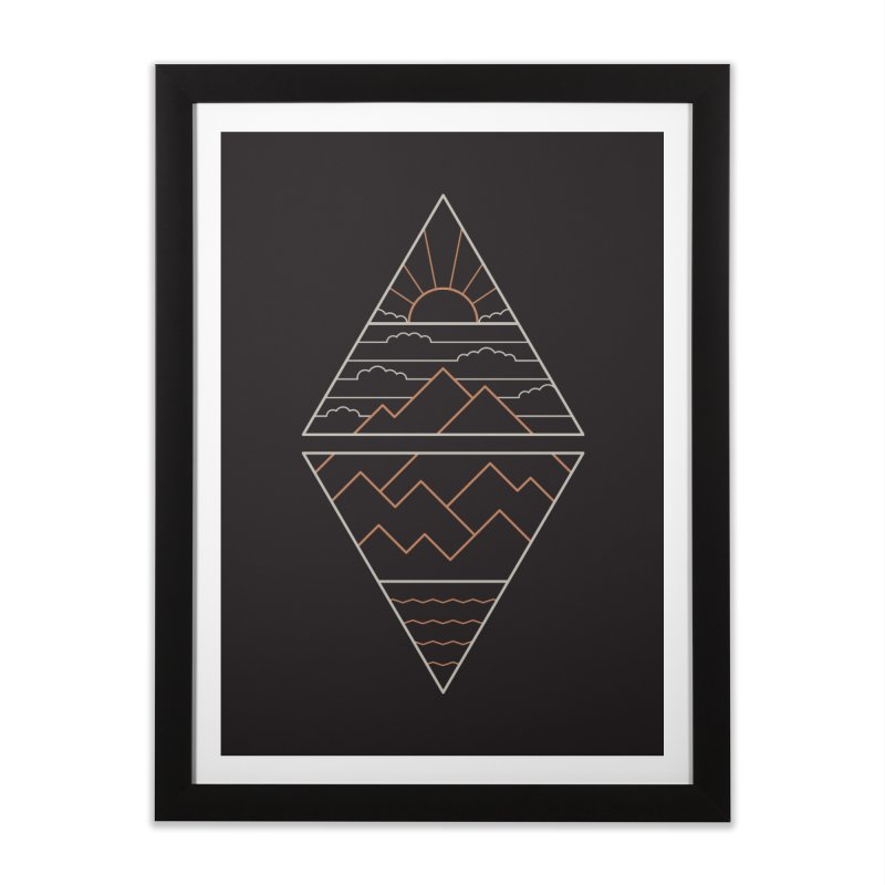 Earth, Air, Fire & Water Home Framed Fine Art Print by thepapercrane's shop