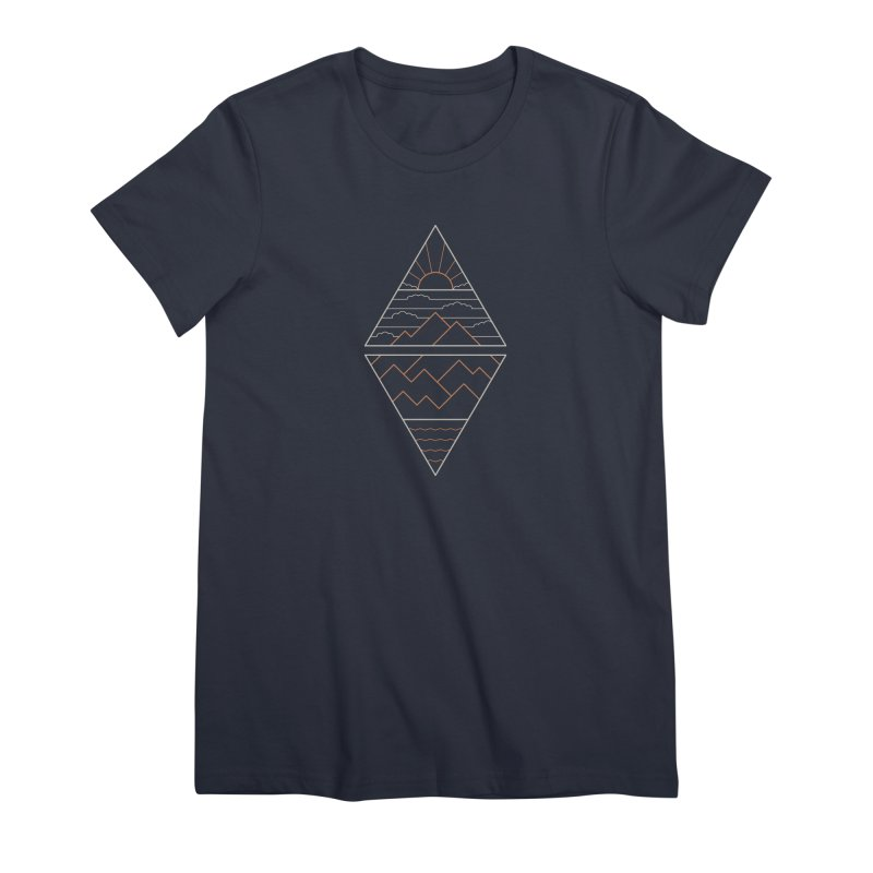 Earth, Air, Fire & Water Women's Premium T-Shirt by thepapercrane's shop