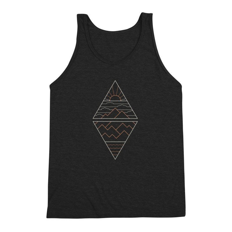 Earth, Air, Fire & Water Men's Triblend Tank by thepapercrane's shop
