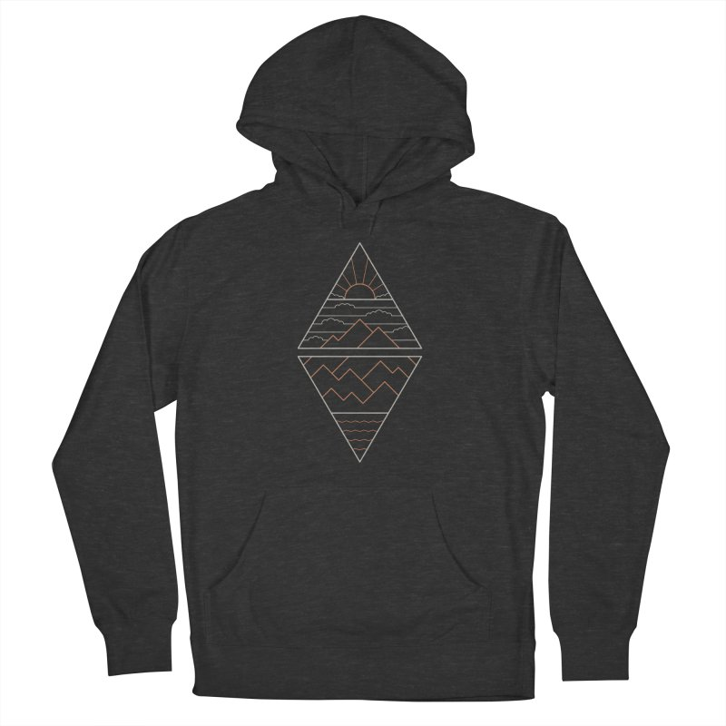 Earth, Air, Fire & Water Men's French Terry Pullover Hoody by thepapercrane's shop