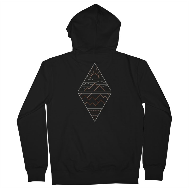 Earth, Air, Fire & Water Men's French Terry Zip-Up Hoody by thepapercrane's shop
