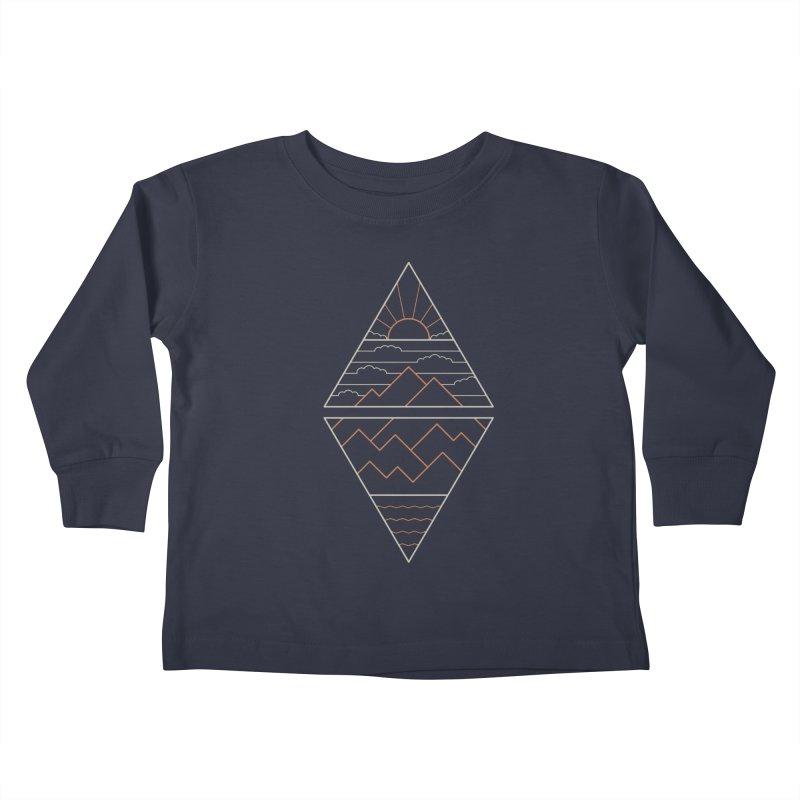 Earth, Air, Fire & Water Kids Toddler Longsleeve T-Shirt by thepapercrane's shop