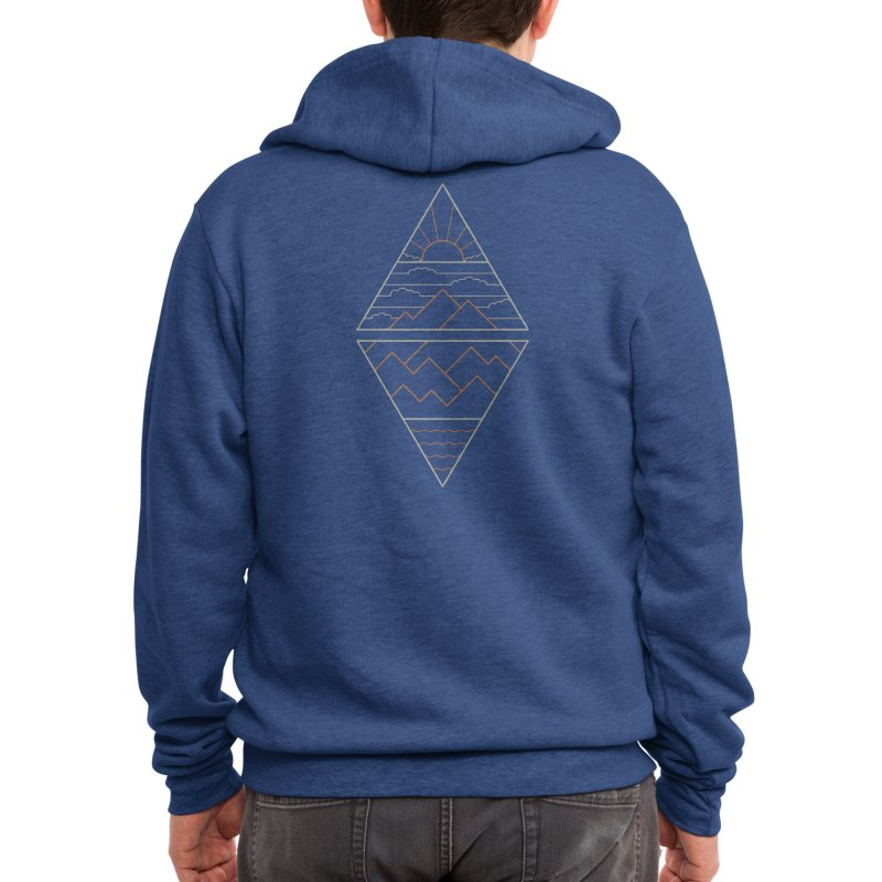 Earth, Air, Fire & Water Men's Zip-Up Hoody by thepapercrane's shop