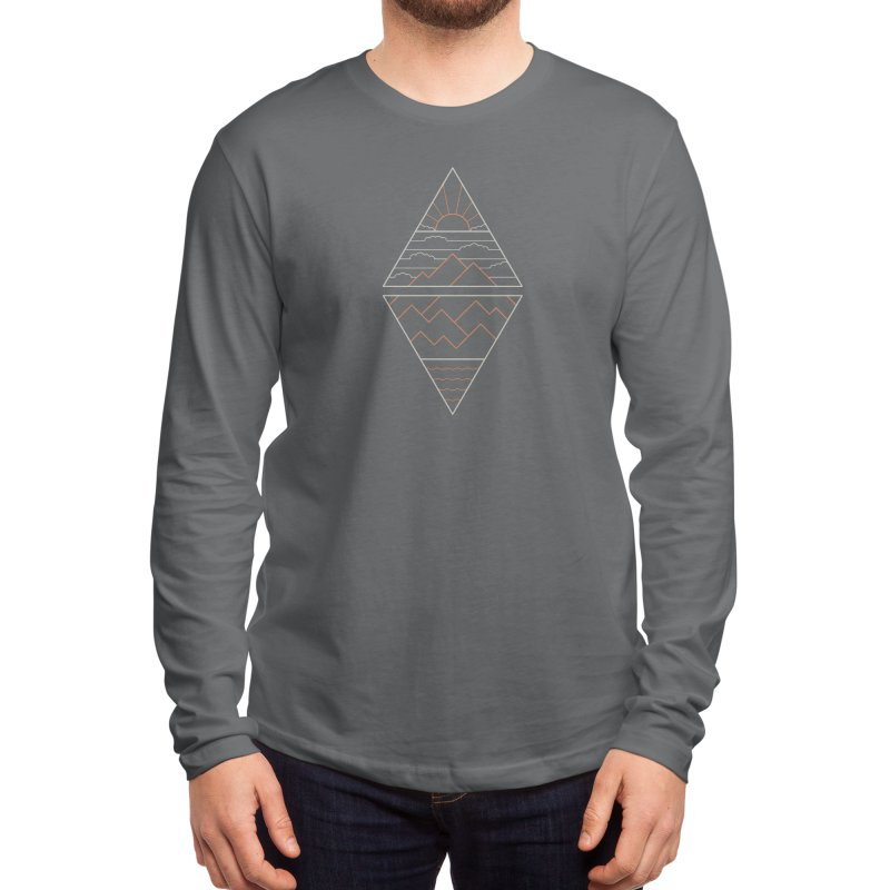 Earth, Air, Fire & Water Men's Longsleeve T-Shirt by thepapercrane's shop