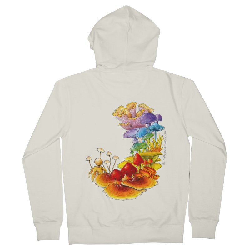 Pride of Fungus Men's French Terry Zip-Up Hoody by The Pen And The Pangolin
