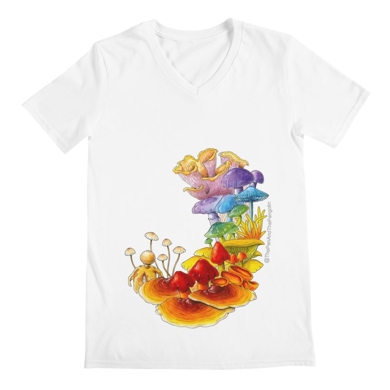 Pride of Fungus Men's Regular V-Neck by The Pen And The Pangolin
