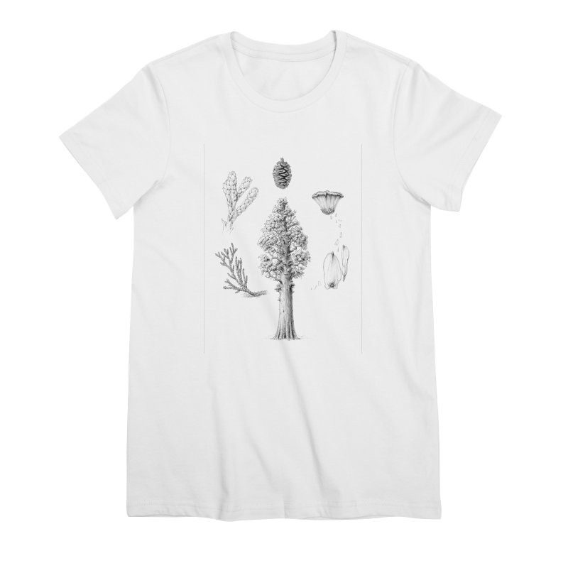 Giant Sequoia Women's Premium T-Shirt by The Pen And The Pangolin