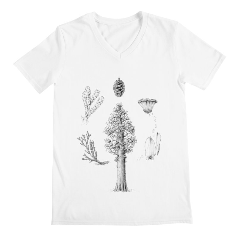 Giant Sequoia Men's Regular V-Neck by The Pen And The Pangolin
