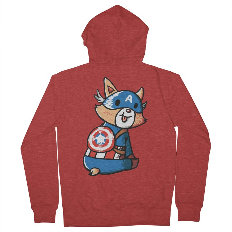 Captain Corgi Men's Zip-Up Hoody by La La Lune