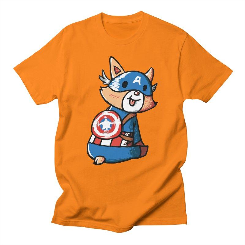 Captain Corgi Men's T-Shirt by La La Lune