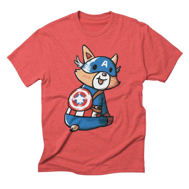 Captain Corgi Men's Triblend T-shirt by La La Lune