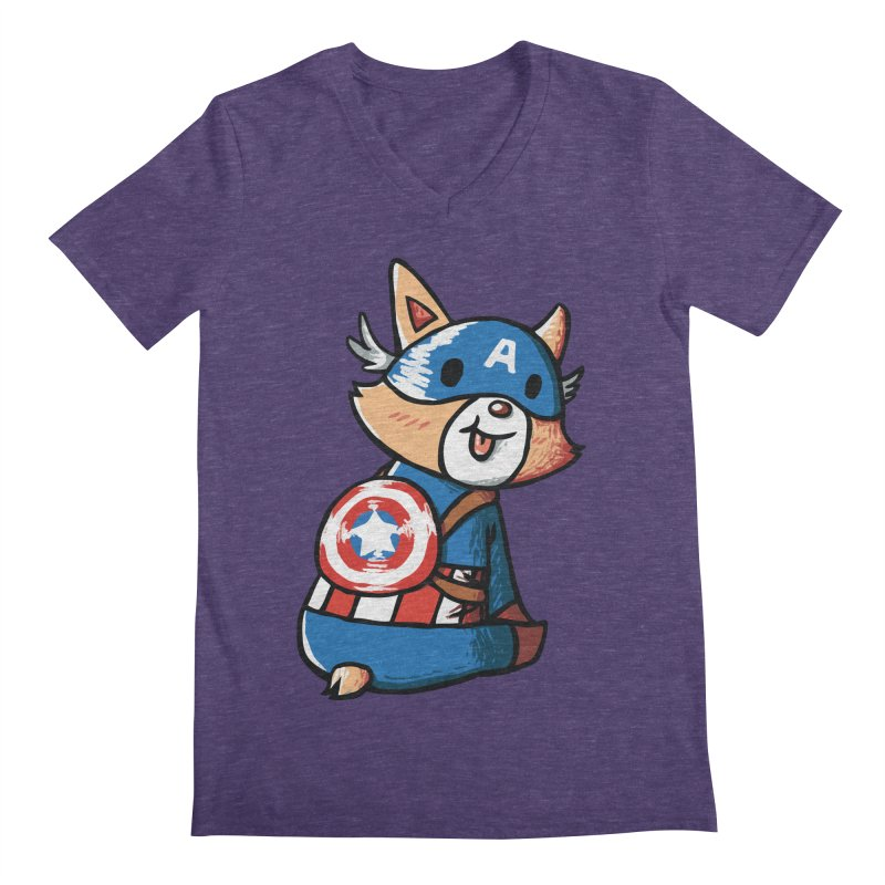 Captain Corgi Men's V-Neck by La La Lune