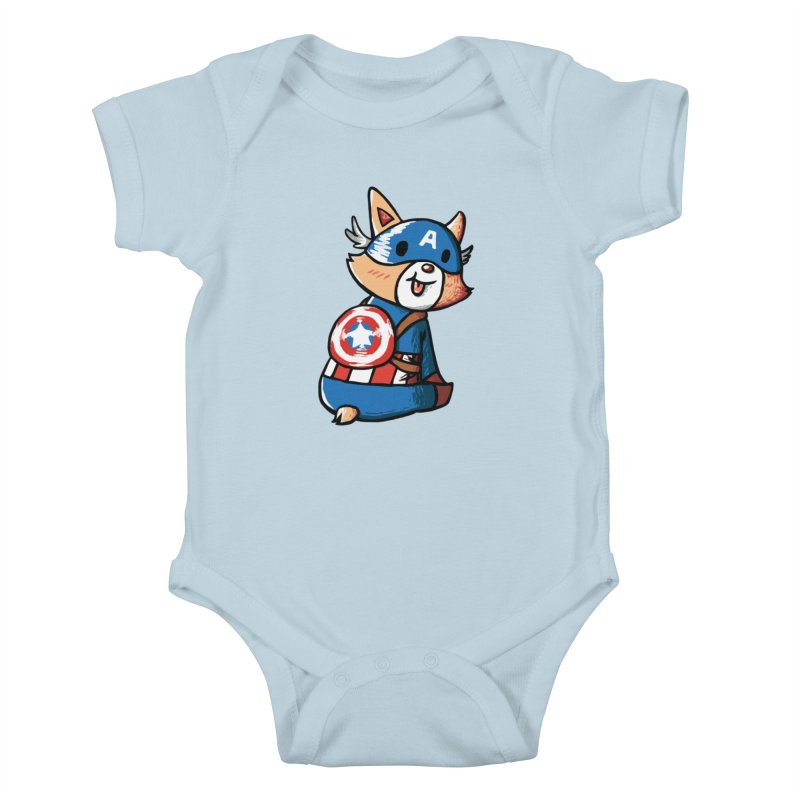 Captain Corgi Kids Baby Bodysuit by La La Lune