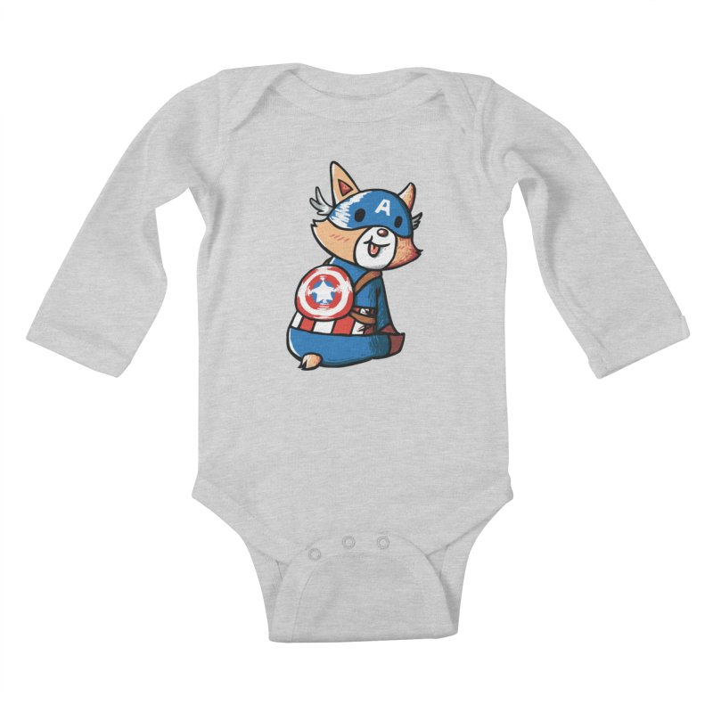 Captain Corgi Kids Baby Longsleeve Bodysuit by La La Lune