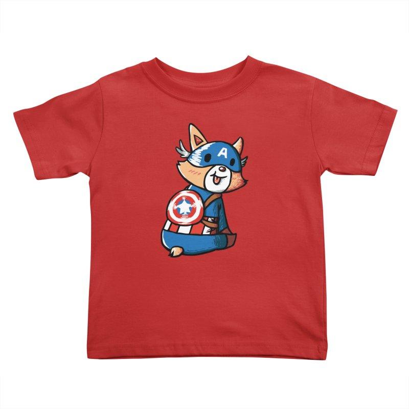 Captain Corgi Kids Toddler T-Shirt by La La Lune