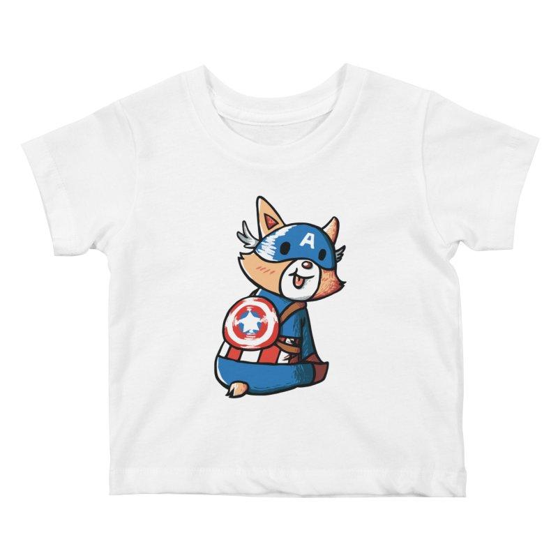 Captain Corgi Kids Baby T-Shirt by La La Lune