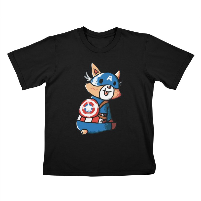 Captain Corgi Kids T-shirt by La La Lune