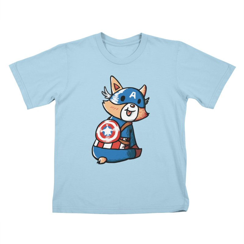 Captain Corgi Kids T-shirt by La La Lune