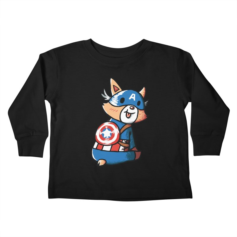 Captain Corgi Kids Toddler Longsleeve T-Shirt by La La Lune