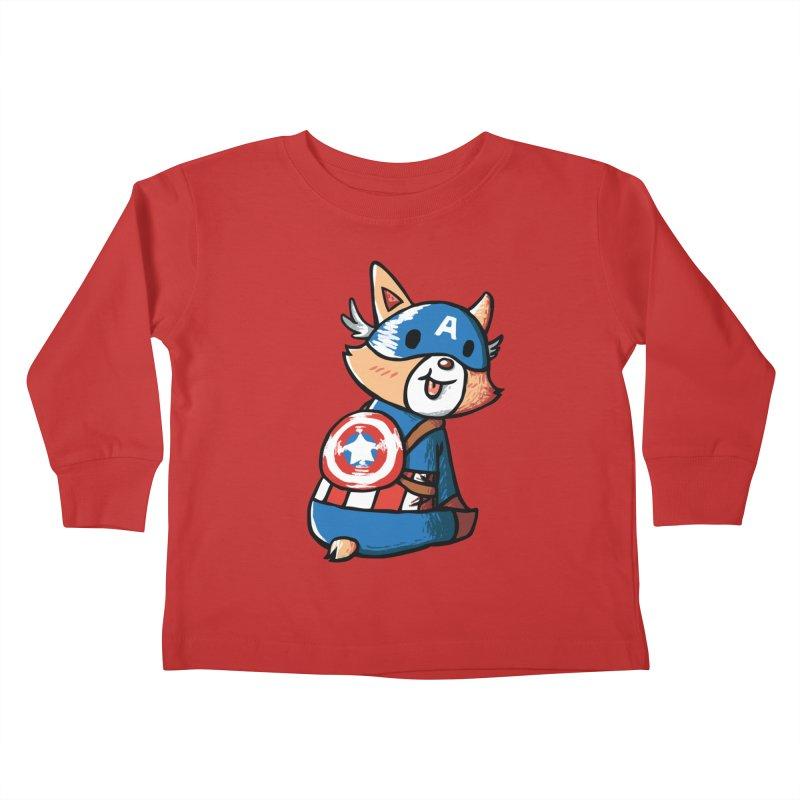 Captain Corgi Kids Toddler Longsleeve T-Shirt by La La Lune