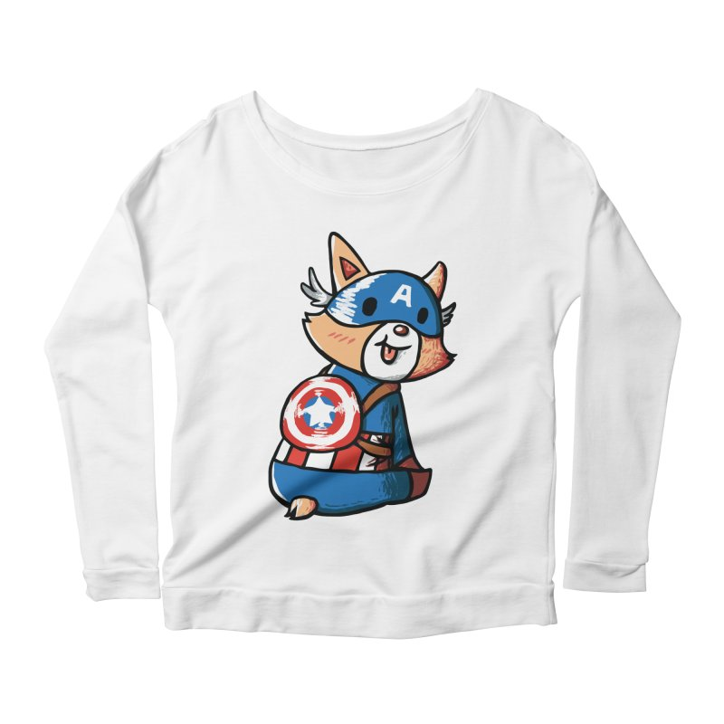 Captain Corgi Women's Longsleeve Scoopneck  by La La Lune